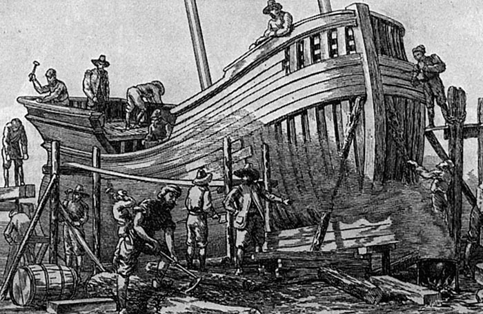 Ship Building In The New England Colonies